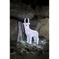 Konstsmide Acrylic Baby Reindeer with 40 White LED's - Konstsmide from Castlegate Lights UK
