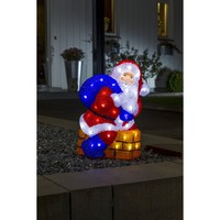 Konstsmide Festive Acrylic Santa and Chimney Figure with White LED's - Konstsmide from Castlegate Lights UK