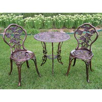 Oakland Living Rose 3-Piece Patio Bistro Set-3705-AB at The Home Depot