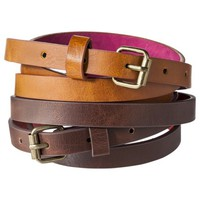 Mossimo Supply Co. Basic Belt Set of 2 - Brown
