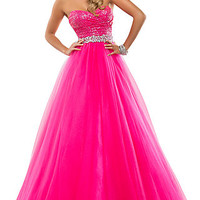 Strapless Sweetheart Ball Gown by Flirt