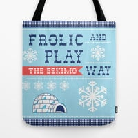 Frolic And Play Tote Bag by Heather Dutton