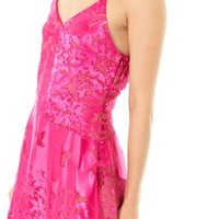 PREEN Avery flower devore silk dress