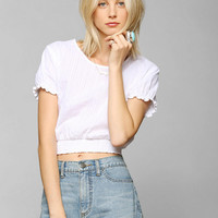 Pins And Needles Smocked-Bottom Cropped Top - Urban Outfitters