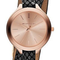 Michael Kors 'Slim Runway' Embossed Leather Strap Watch, 42mm (Save Now through 12/9) | Nordstrom