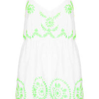 EMBROIDERED BAGGY PLAYSUIT
