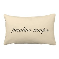 "Italian ""Nap Time"" Cream Pillow"