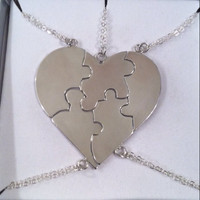 "Necklace ""A Piece Of My Heart"" - Solid Sterling Silver"