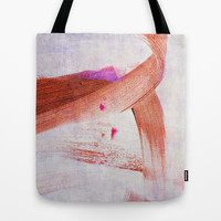 brush strokes purple orange Tote Bag by Iris Lehnhardt