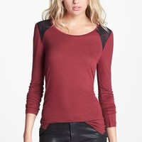 Hinge Lace Detail Long Sleeve Tee | Nordstrom