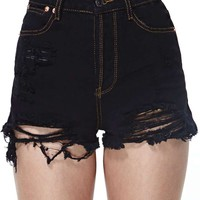 Due West Cutoff Shorts - Black