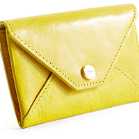 Envelope Card Case, Yellow