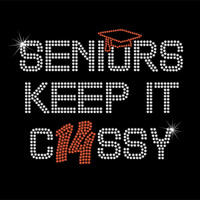 Rhinestone Iron-On Transfer - Seniors Keep It C14SSY (Class of 2014) DIY Iron On Rhinestone Transfer