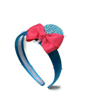 Blue and Hot Pink Lollipop Headband, Candy Headband, Pink, Blue, Lollipop, Headband, Lollipop Wedding, Flower girl, Candy, Wedding