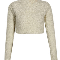 Kadie Soft Fluffy Knit Loop High Neck Jumper