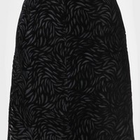 When Midnight Falls Velvet Skirt