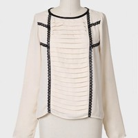 Here's To You Laser Cut Detail Blouse