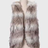 Winter Skies Faux Fur Vest