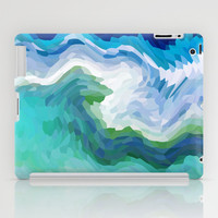 AQUA CRYSTALS iPad Case by catspaws