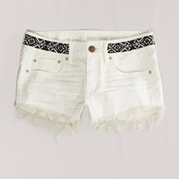 AE Beaded Denim Shortie
