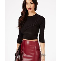 Missguided - Kaichi Slinky Crossover Crop Top