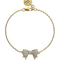 Pave Bow Wish Bracelet