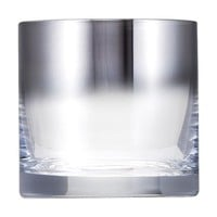 Threshold Glass Double Old-Fashioned Tumbler Silver Ombre