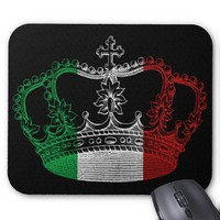 Italian Crown Flag Mousepad