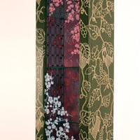 Purple Blossoms by Jenna Goldberg: Wood Cabinet | Artful Home
