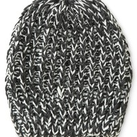 BI-COLOR KNIT BOYFRIEND BEANIE