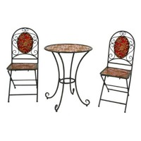 River Cottage Gardens J03357Q3-UPS Bistro Table with Two Chairs