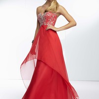 Paparazzi by Mori Lee 95077 Strapless Evening Dress