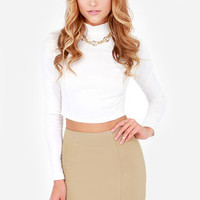To the Letter Taupe Envelope Skirt