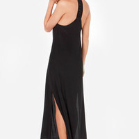 Lucy Love Sunset Black Lace Maxi Dress