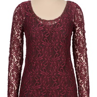 Long Sleeve Lace Tee
