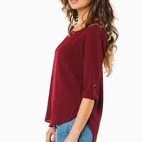 SHAUNA BLOUSE IN BURGUNDY