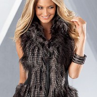 Grey Multi (GYMU) Multi Faux Fur Vest