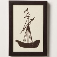 Sailing Ship Sketch-Anthropologie.com