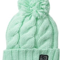 Fox Juniors Legend Pom Beanie, Mint, One Size