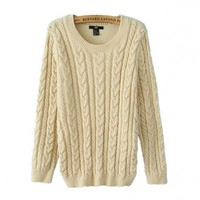 New Style Thicken Slim Long Sleeve Round Collar Sweater