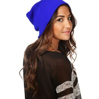 Royal Blue Basic Beanie
