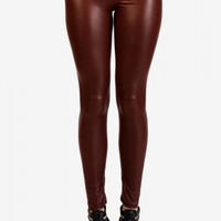 Tres Faux Leggings - Crimson - Bottoms - Clothes