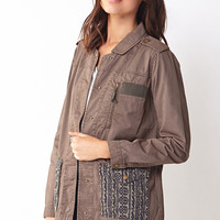 Military-Chic Ikat Jacket