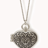 Filigree Heart Locket