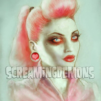 Rockabilly Zombie Pinup Art Print by Marus by screamingdemons