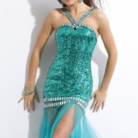 Sequined Soft Tulle Gown by Princess Collection by Party Time