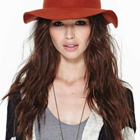 Lone Rider Wool Hat - Rust