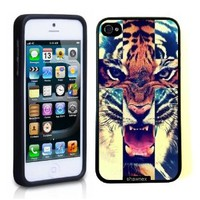 Iphone 5 Case Thinshell Case Protective Iphone 5 Case Shawnex Tiger Roar Cross Hipster Quote