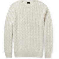 PRODUCT - J.Crew - Cable-Knit Cashmere Sweater - 398020 | MR PORTER