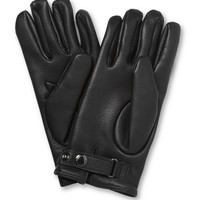 PRODUCT - Mulberry - Cashmere-Lined Leather Gloves - 365664 | MR PORTER